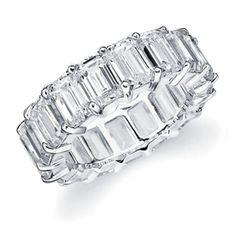 Emerald Cut Eternity Ring- Platinum