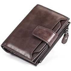 eeabb7f9c4 Portafoglio Uomo con RFID in Pelle Porta Carte di Credito Fermasoldi  Sottile Porta Tessere Elegante e