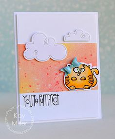 Card by Kay Miller using PS Baby Bow die, Clouds dies, Chubby Chums stamps/dies