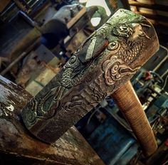 Thought you guys might like this: An engraved heavy japanese forging hammer by Ilya Alekseyev http://ift.tt/2pf3G1N