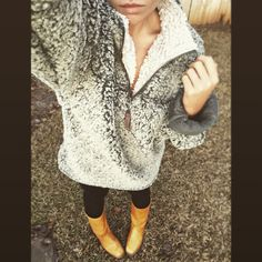 True Grit pullover and Frye Campus Boots