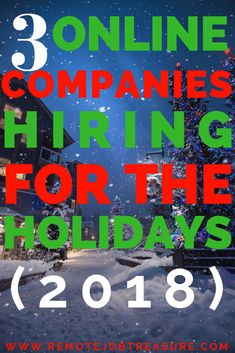 3 More Companies Hiring for the Holidays! Work From Home Jobs, Make Money From Home, Way To Make Money, Make Money Online, Companies Hiring, Career Inspiration, Blog Names, Starting Your Own Business, Career Advice