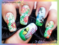 spring nail art  by thriszha