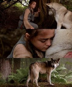 Arya Stark's direwolf Nymeria: I still cry over this scene!  George R R Martin, you better be planning a pretty spectacular reunion...