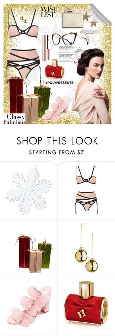 """#PolyPresents: Wish List"" by killatrash ❤ liked on Polyvore featuring Tiffany & Co., Agent Provocateur, Kalda, Carolina Herrera, Anna-Karin Karlsson, shop, contestentry, polyPresents and thankyou"