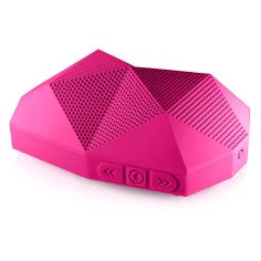 awesome neon pink speakers.