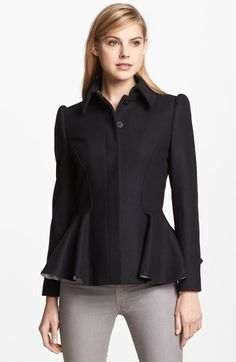 Ted Baker London Wool Blend Peplum Coat available at #Nordstrom