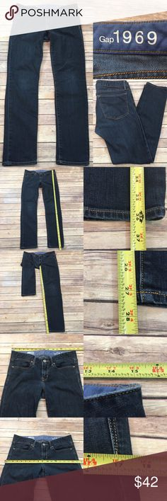 ⭐️Sz 26/6 GAP Always Skinny Denim Dark Wash Jeans Measurements are in photos. Normal wash wear, no flaws. B2/34  I do not comment to my buyers after purchases, due to their privacy. If you would like any reassurance after your purchase that I did receive your order, please feel free to comment on the listing and I will promptly respond.   I ship everyday and I always package safely. Thank you for shopping my closet! GAP Jeans Skinny