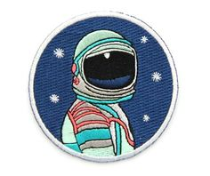 Amazon.com: Embroidered Sew or Iron-on Backing Patch Yoga Space Explorer Time Traveler Camp Galaxy Planet Bear Bike Camera (Space Explorer Circle): Arts, Crafts & Sewing