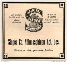 Original-Werbung/ Anzeige 1908 : SINGER NÄHMASCHINEN - ca. 90 x 80 mm