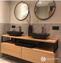 Home - Hollemans Homesteel Best Bathroom Designs, Bathroom Ideas, Ideal Bathrooms, Downstairs Bathroom, Bathroom Inspiration, Double Vanity, Cabinet, Decoration, Shower