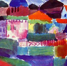 Paul Klee  Swiss Painter (Expressionism)  1879-1940      The Heart of St. Germain, 1914     (Zentrum Paul klee, Bern, Switzerland)