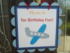 Welcome sign for transportation theme birthday party