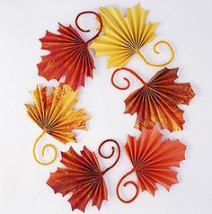 folded fall leaves.