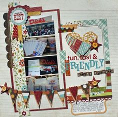 Cute Simple Stories layout using Harvest Lane