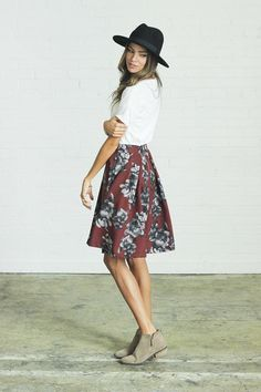 Floral Flutter Skirt | clad & cloth 5.jpg