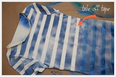 iLoveToCreate Blog: DIY Striped T-Shirt with Spray Paint