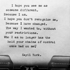 "Kayil York (@rose_thorns1921) on Instagram: ""Change is good ❤ #writer #writing #poetry #poet #poem #poems #kayilyork #lovequotes…"""