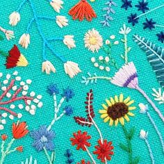 Fun fact about turquoise: it's one of the oldest gemstones, used for amulets/talismans by Ancient Egyptians, Greeks, and Romans as well as pre-Colombian Native Americans. #themoreyouknow  #happycactusembroidery