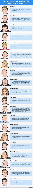 20 Entrepreneur Tips from Startup Legends