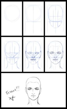 sketches step by step A little step by step for people to see how I start a face drawing. looks weird because I& not used to draw with tablet. I just wanted to show you the way I mark the face proportions w. Drawing People Faces, Drawing Heads, Drawing Faces, Step By Step Sketches, Step By Step Drawing, Drawing Anime Hands, Fashion Drawing Tutorial, Deviantart Drawings, Face Proportions