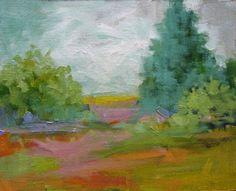 "Original Colorful Landscape Painting ""Summer Palette"" by Colorado Landscape Artist Barbara Churchley"