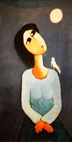 Tagreed Al Bagshi. This painter's subjects are often mournful looking women, as she cares deeply about the hardships and difficulties that face Saudi women everyday. Her work has been exhibited by Desert Designs and in art galleries the world over.