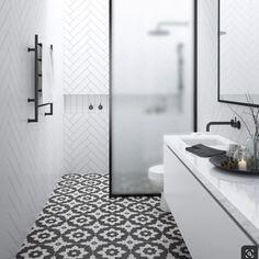 Small Bathroom Interior, Small Bathroom Layout, Small Bathroom Tiles, Loft Bathroom, Modern Small Bathrooms, Bathroom Tile Showers, Small Narrow Bathroom, Small Bathroom Designs, Minimalist Small Bathrooms