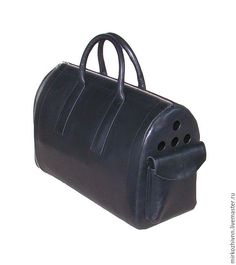Купить Сумка-переноска для кота, кожаная сумка - черный, для кота, сумка из кожи, кот, переноска