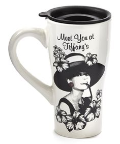 Audrey Hepburn 'Tiffany's' Ceramic Travel Latte Mug
