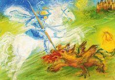 St. George Slays the Dragon by Marjan van Zeyl