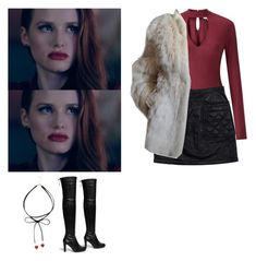 Cheryl Blossom - Riverdale by shadyannon on Polyvore featuring polyvore Mode style Miss Selfridge Yves Saint Laurent 3.1 Phillip Lim Stuart Weitzman fashion clothing