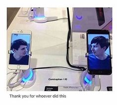 the next time i go to a phone store i'm doing this<<oh my god this is hilarious