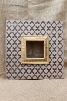 5x5 Clover Wood Distressed Hand Painted PIcture Frame, ANY colors