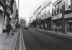In this 1978 picture, Gill's distinctive and characterful building has been replaced by a very ordinary supermarket. Doggarts' Newgate Street store can be seen on the right Bishop Auckland, Local History, Durham, Newcastle, Geography, Street View, England, Earth, Places