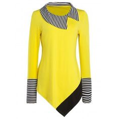SHARE & Get it FREE | Striped Hem Asymmetric Long T-ShirtFor Fashion Lovers only:80,000+ Items·FREE SHIPPING Join Dresslily: Get YOUR $50 NOW!