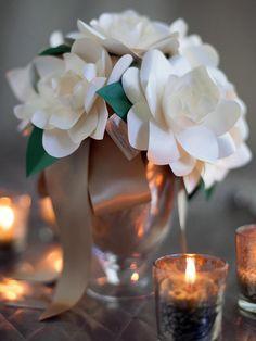 gardenie di carta - DIY Paper Gardenias