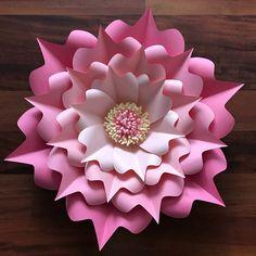 SVG Paper Flower Template DIGITAL Version Original Design by