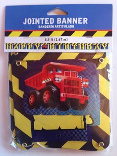UNDER CONSTRUCTION Boys Birthday Party JOINTED BANNER SIGN 5.5 Ft