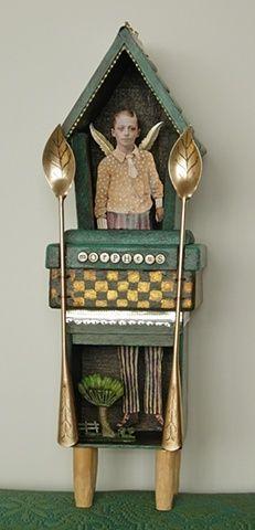 Julie Liger-Belair morpheus 2008 tin, photo, acrylic, wood, found objects