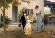 Fête des mères - Johann Friedrich Engel (German, 1844-1921)