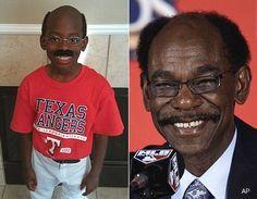 Kid dressed up as Ron Washington head coach of Texas Rangers!