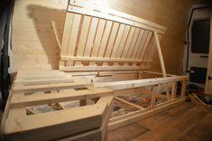 Disappearing bed with storage underneath diy-camper-van-conversion-storage-under-bed-61