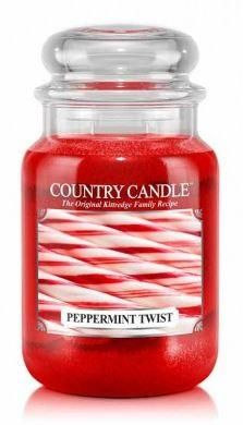 23oz Country Classics Large Jar Kringle Candle Peppermint Twist