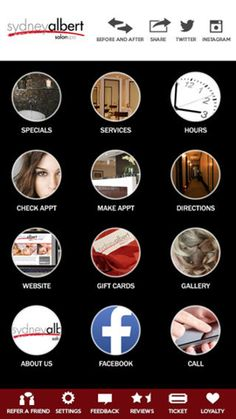 Get iphone and mobile app for Sydney Albert salon spa