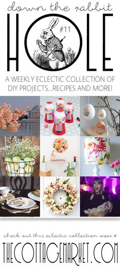 DIY Projects …Recipes and More…Down The Rabbit Hole - The Cottage Market This weeks collection of fun DIY's...Spring Projects...Pet Fun and more!!!