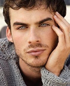 Damon from Vampire Diaries - OMG! Those eyes.