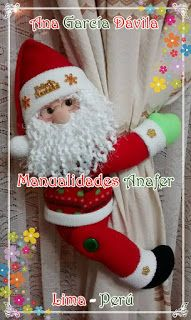 Manualidades Anafer: Cortineros Navideños Christmas Decorations, Holiday Decor, Learn To Sew, Elf On The Shelf, Learning, Sewing, Crochet, Decor Ideas, Felt Animals