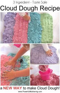 How to make Cloud Dough Recipe (Colorful & Taste Safe) | Powerful Mothering