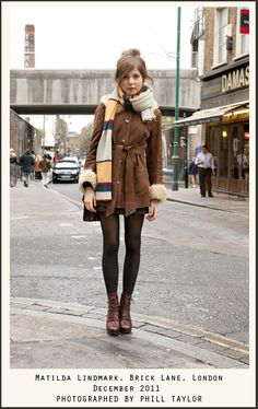 Fall/Winter Outfit: Oversized Scarf + Came Brown Coat + Sheer Black Tights + Lace Up Ankle Boots